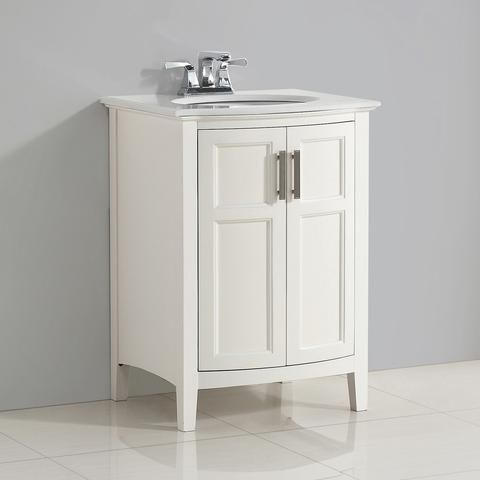 Winston Rounded Front 24 inch Bath Vanity with Bombay White