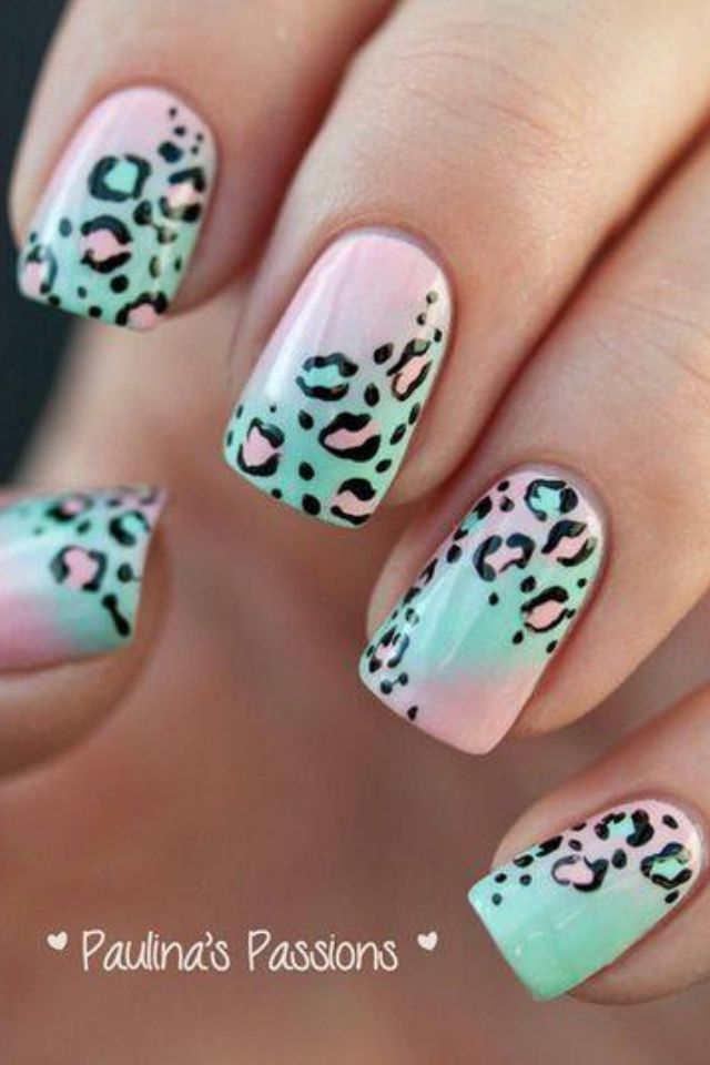 Nail Art Design Animal Print Nails Cheetah Nail Art Cheetah Nails