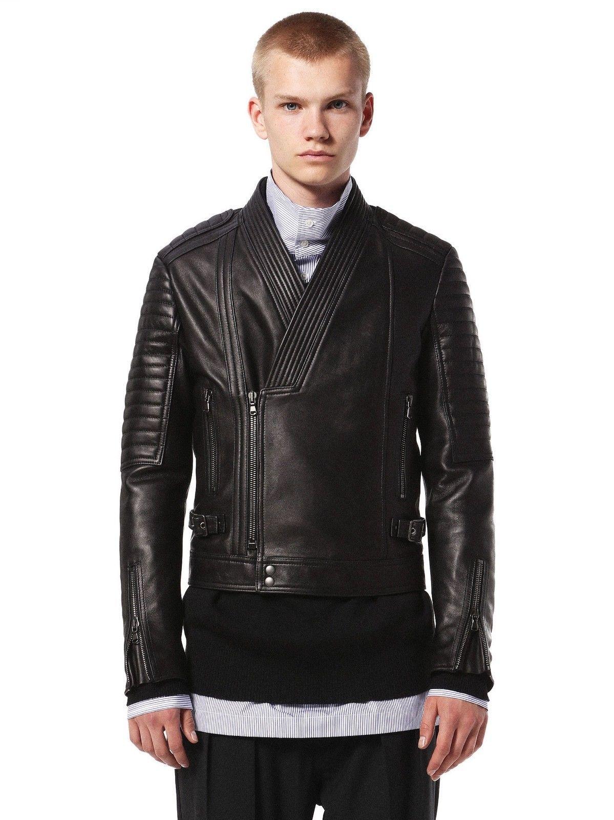 Fully Customised Handmade Lambskin Natural Leather Mens