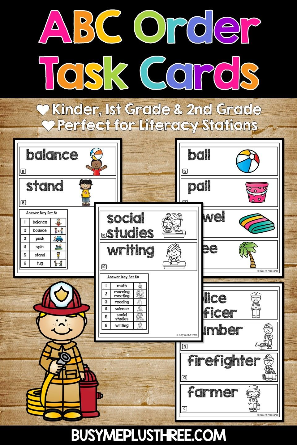Abc Order To The First And Second Letter Alphabetical Order Workstations Centers Abc Order Abc Order Task Cards Literacy Stations [ 1440 x 960 Pixel ]