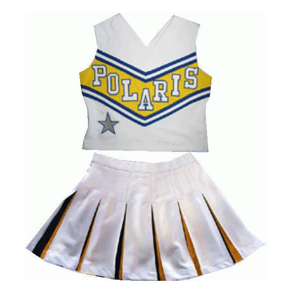 Custom cheerleading uniformes enfrentar com twilll números. Aceite... ❤ liked on Polyvore featuring cheer