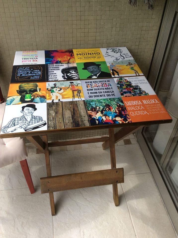 Armario Sinonimo De Arca ~ Mesa reformada com o adesivo de azulejo Samba Adesivos de Azulejo Aplicações Pinterest