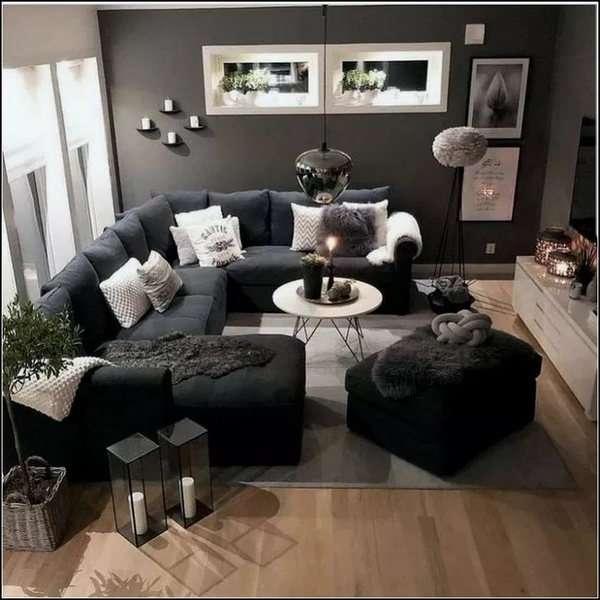47 Popular Living Room Decor Ideas With Black Sofa Living Room Decor Apartment Apartment Living Room Small Living Room Decor