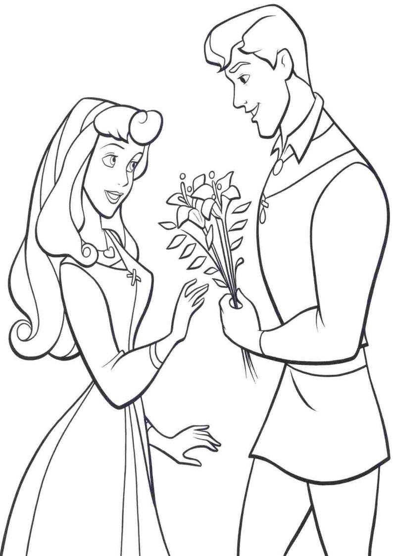 Kolorowanki Śpiąca Królewna, Aurora nr 11 | Sleeping beauty coloring pages,  Disney coloring pages, Ariel coloring pages