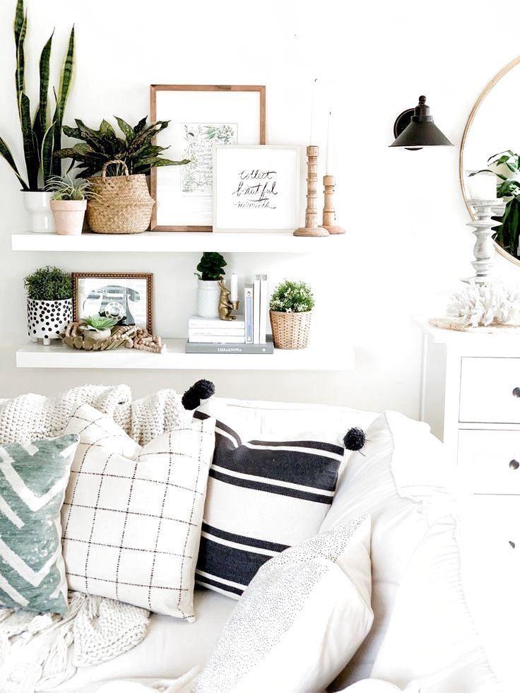 #bohemian #decor #green #home #white #Wohnkultur Ideen Wohnzimmer modern