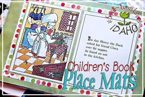 (DIY Homemade Gift Idea) Make Place Mats Out Of Childrenu0027s Book Pages