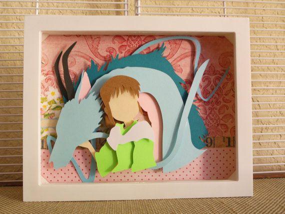 Chihiro And Dragon Haku Layered Paper Cut Art Piece 8 Quot X10