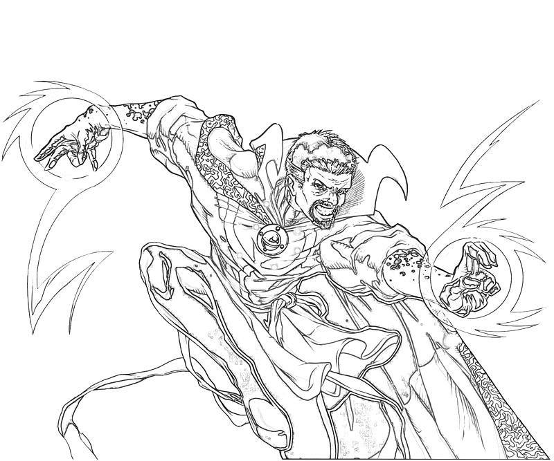 Doctor Strange Art Bw Jpg 800 667 Avengers Coloring Pages Avengers Coloring Doctor Strange Art