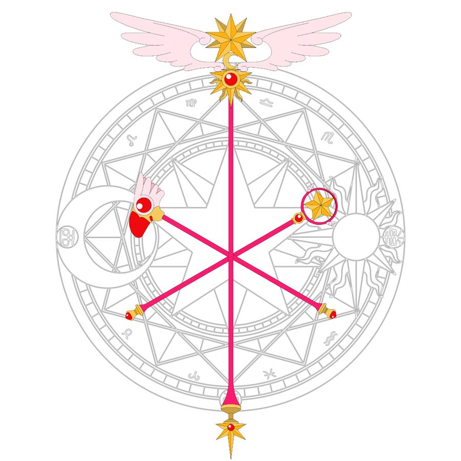 Sakura S Staffs By Earthstar01 On Deviantart Sakura Card