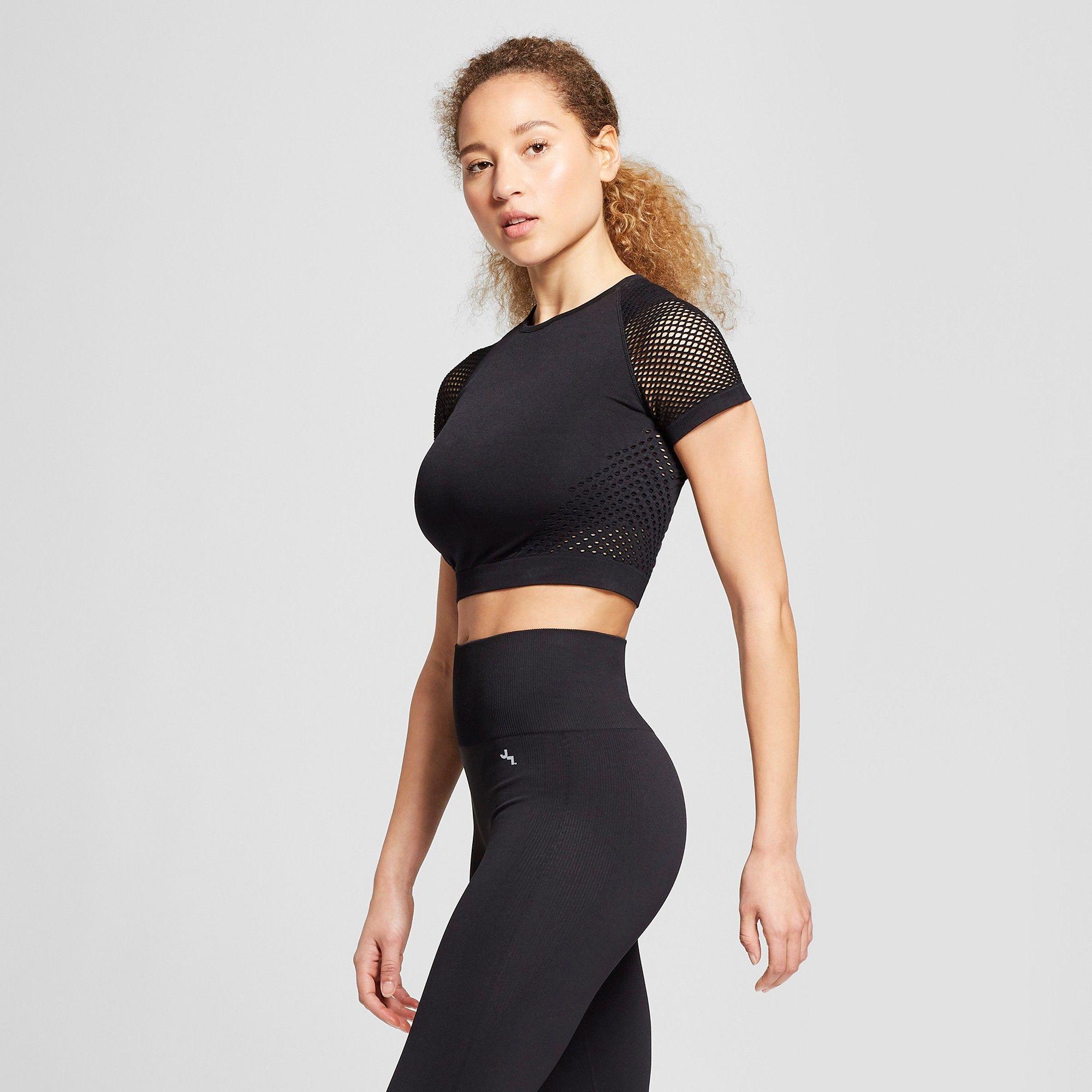 4210a2d99b9 Women s Seamless Short Sleeve Crop Top - JoyLab Black Xxl