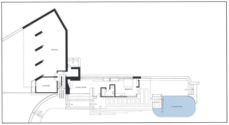 Ad classics fallingwater house frank lloyd wright for Frank lloyd wright floor plan