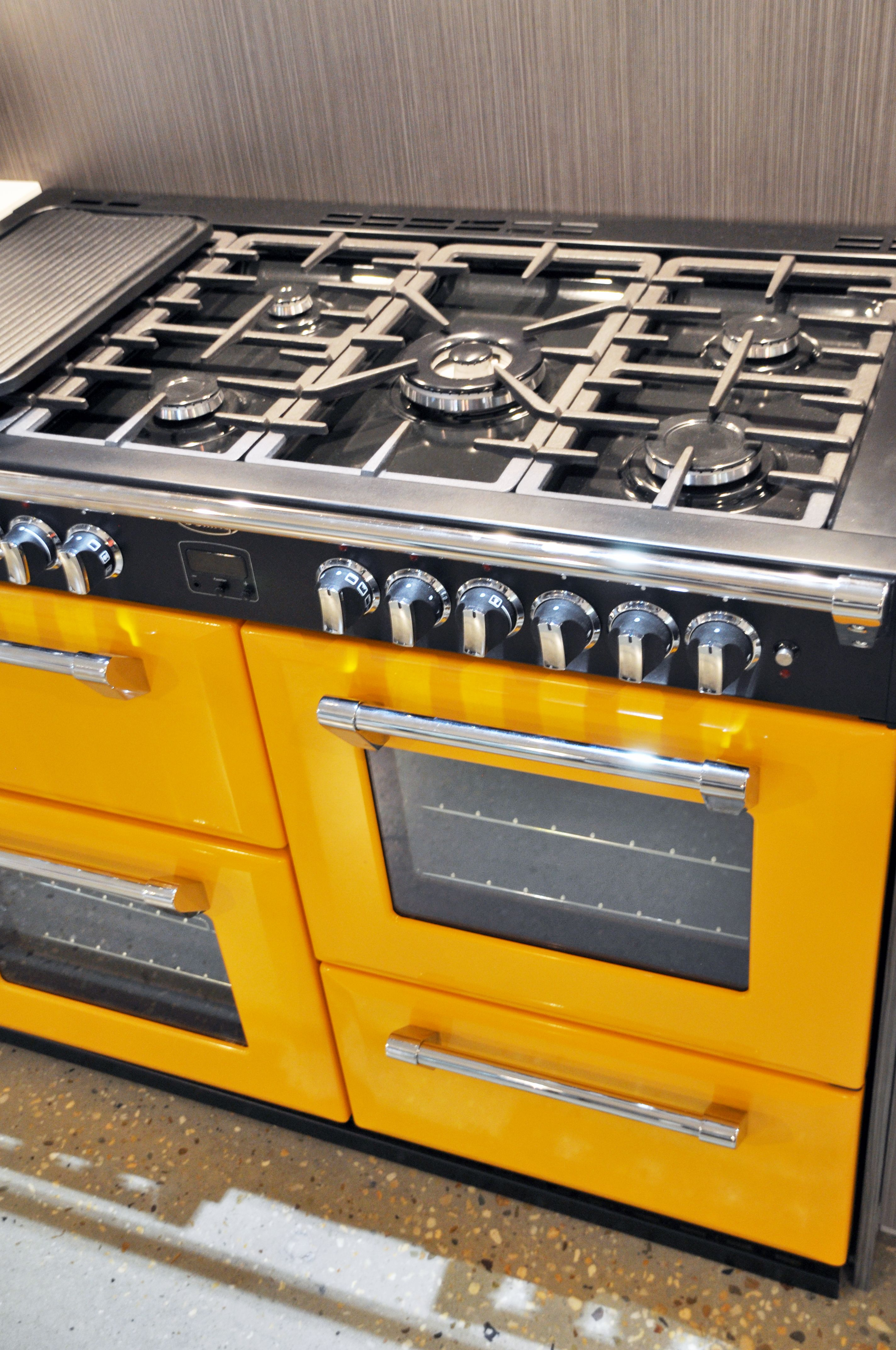 Uk Built For Australian Standards This Yellow Range Cooker Is Part Of The Colour Boutique Collection First Bloom Rem Range Cooker Kitchen Oven Kitchen Colors