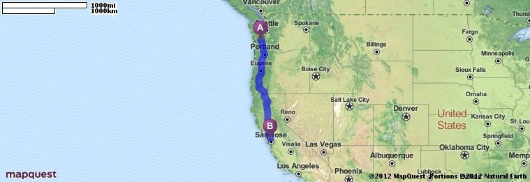Driving Directions From Rochester Washington To Pleasanton - Mapquest california