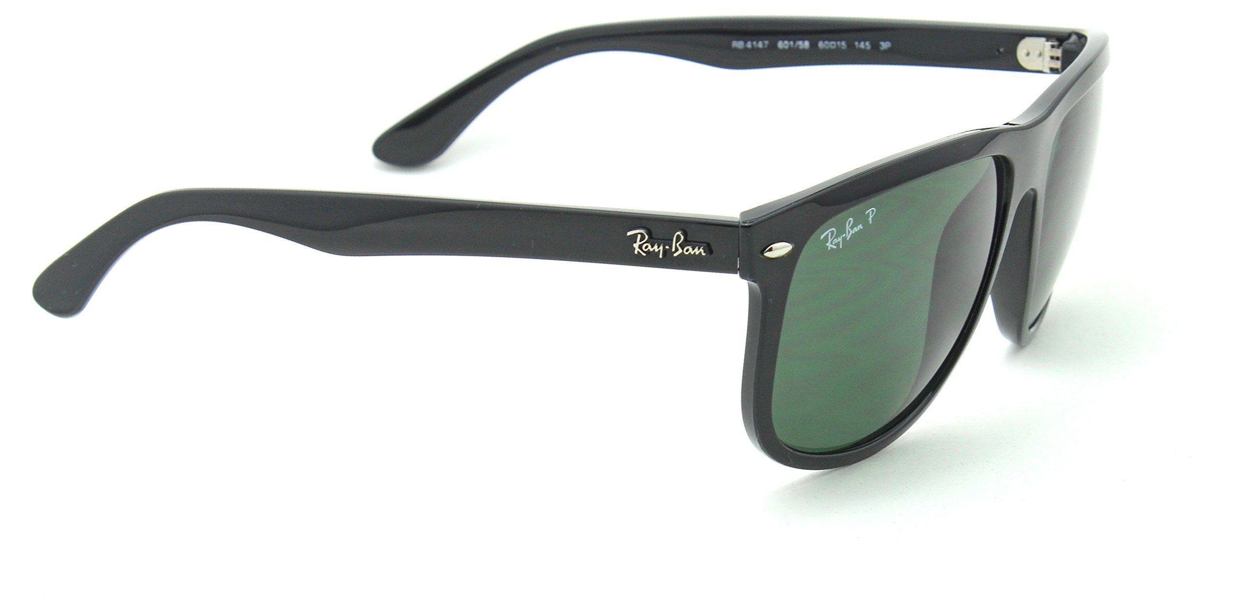5d6bb66b77 RayBan RB4147 Polarized Square Unisex Sunglasses Black 601 58 60mm   Visit  the image link