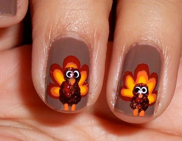 30 cool thanksgiving and fall nail designs thanksgiving nails 30 cool thanksgiving and fall nail designs prinsesfo Choice Image