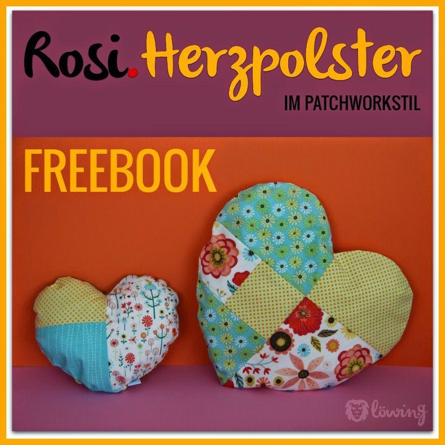 gewinnspiel freebook patchwork herzkissen kissen herzpolster polster velentinstag heart. Black Bedroom Furniture Sets. Home Design Ideas