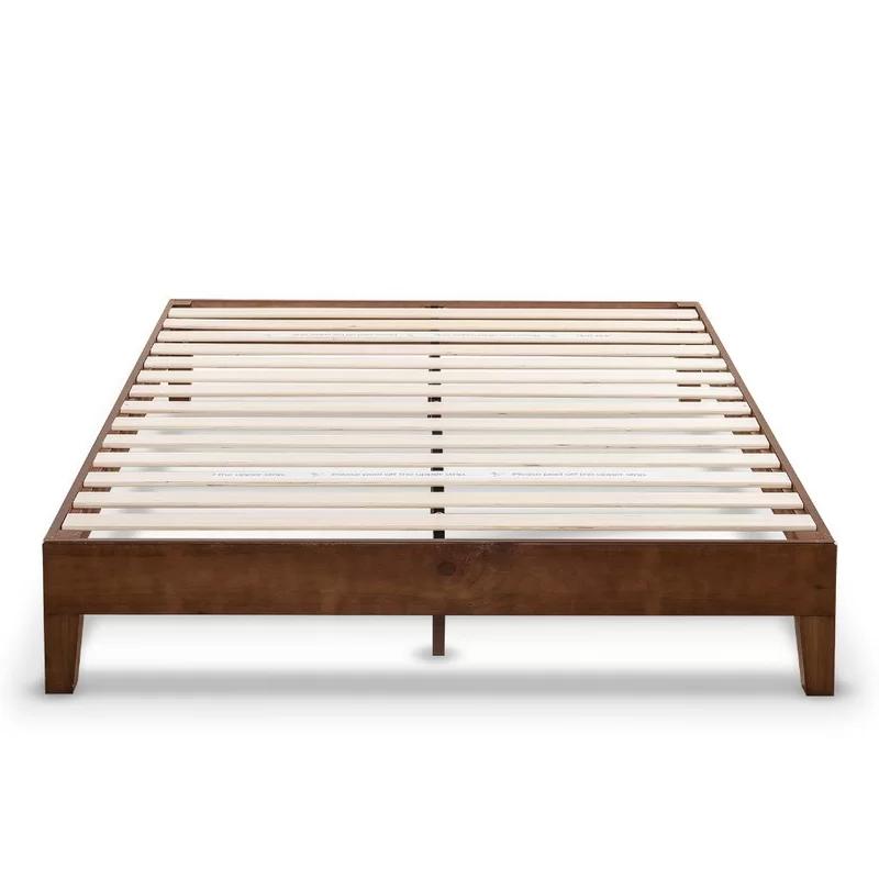Harney Platform Bed Frame In 2020 Wood Platform Bed Solid Wood