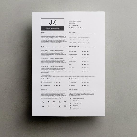 resume template word modern resume template by typematters