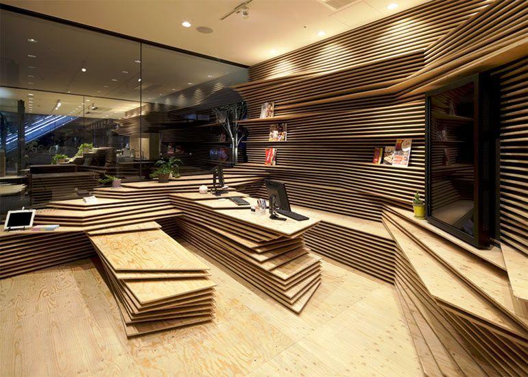 Shopdesign-Kengo-Kuma2 TANGRAM Pinterest Tresen, Ladenbau
