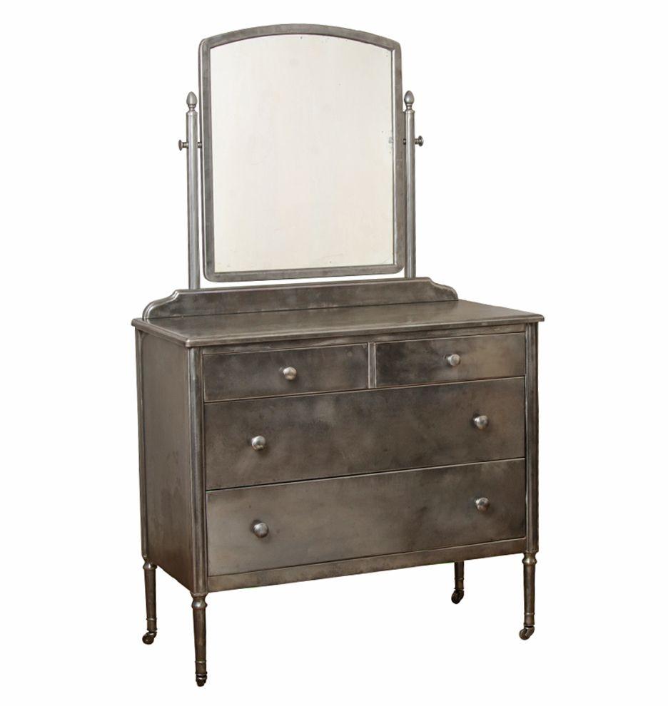 Steel Sheraton Style Simmons Dresser W Mirror