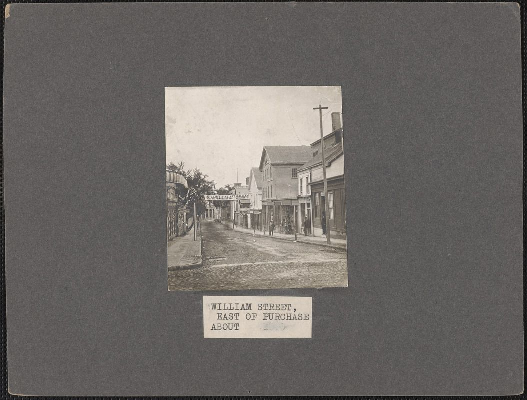 Black and white photograph of William Street, New Bedford