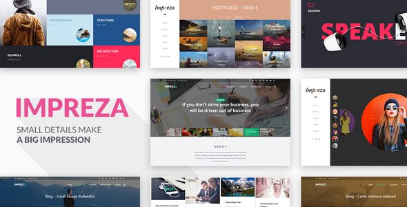 Impreza v3.5 Retina Responsive WordPress Theme Blogger Template ...