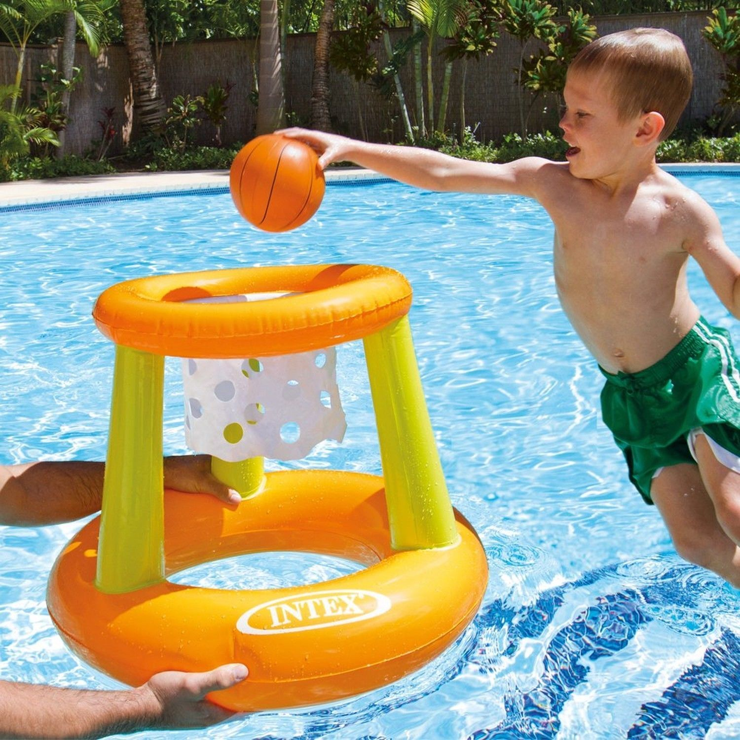Details about Intex Floating Hoops Basketball Game Water Toy