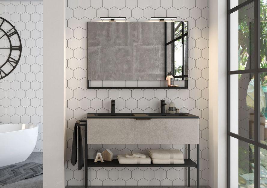 meuble salle de bain fabrik 134 cm
