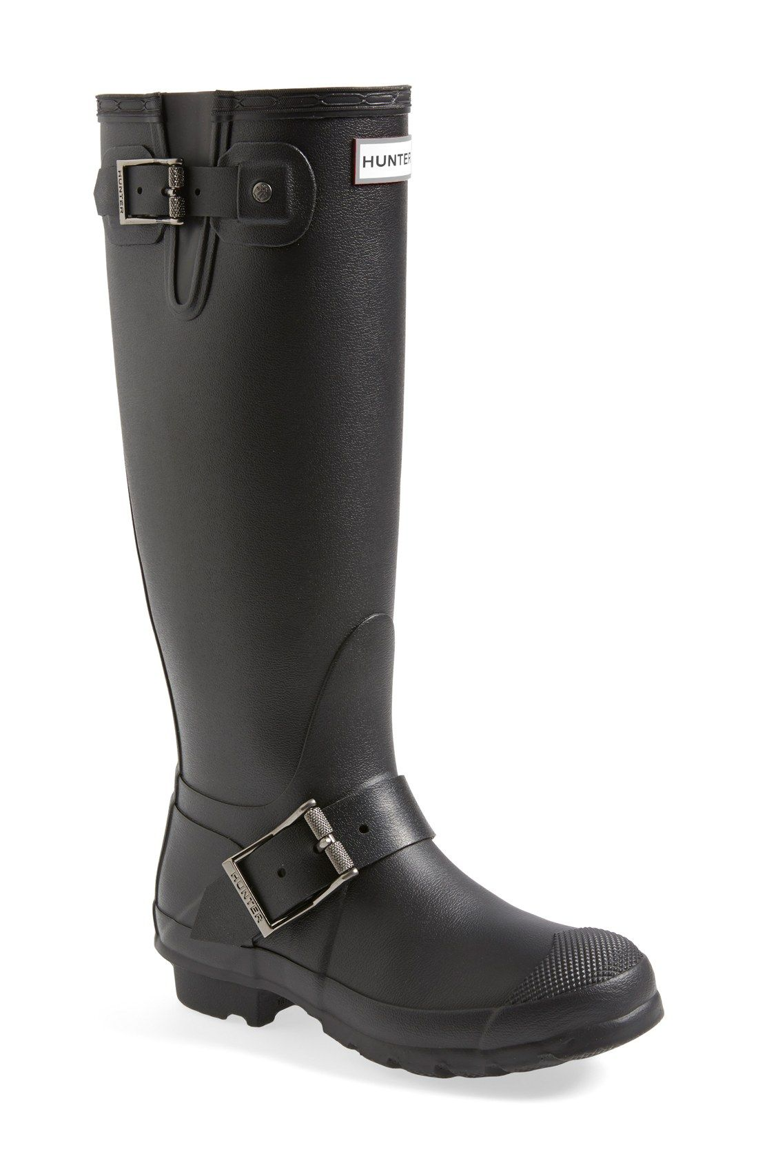 Hunter rain boots are a fall go-to!