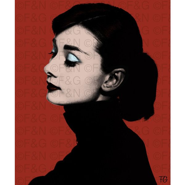 AUDREY HEPBURN Printable Poster 50x60 cm, Warhol, Pop Art, Portrait ...