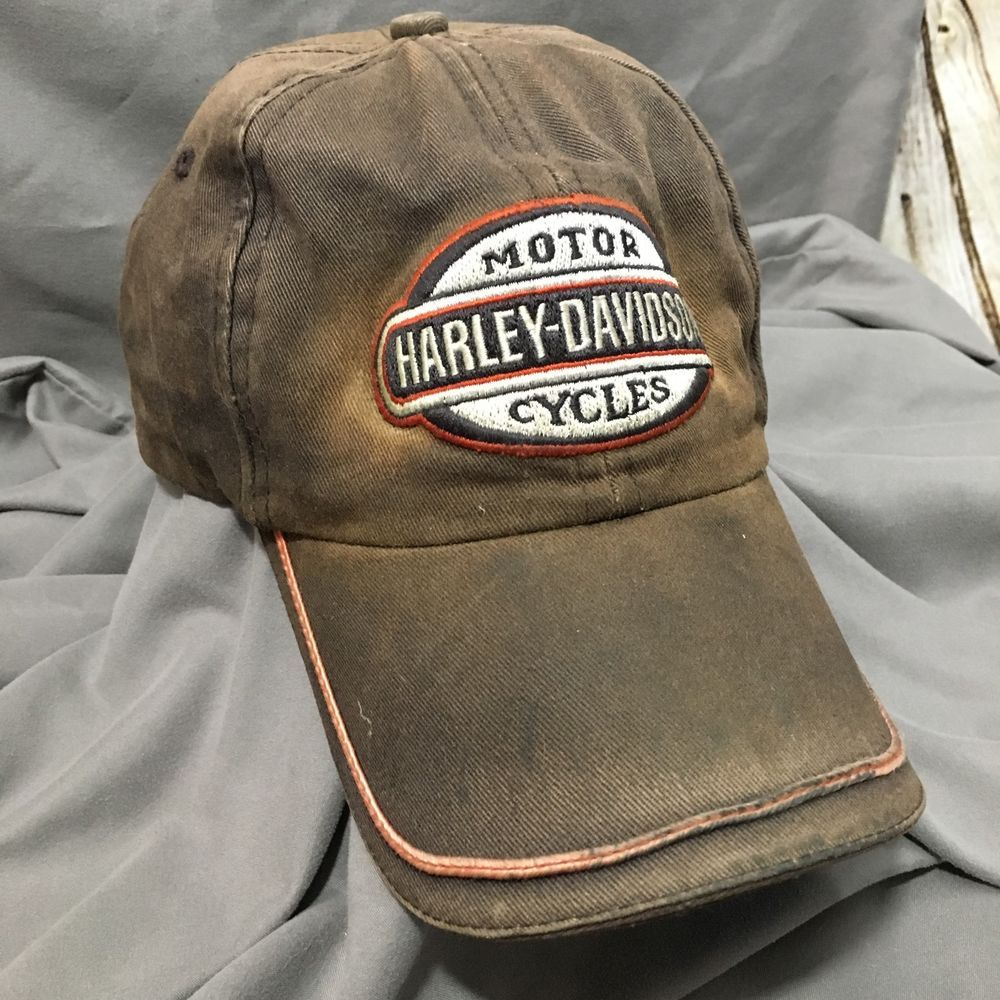 Details About Destroyed Trashed Harley Davidson Patch Cap