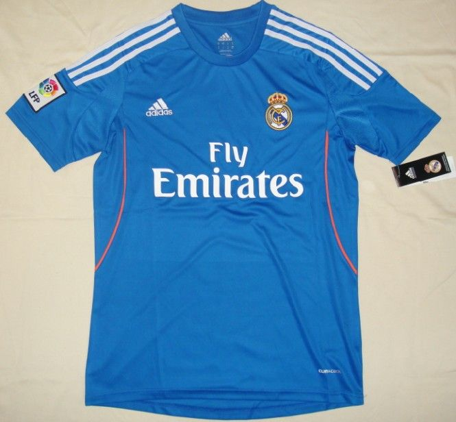 2013 2014 Real Madrid Away Blue Soccer Jersey Shirt