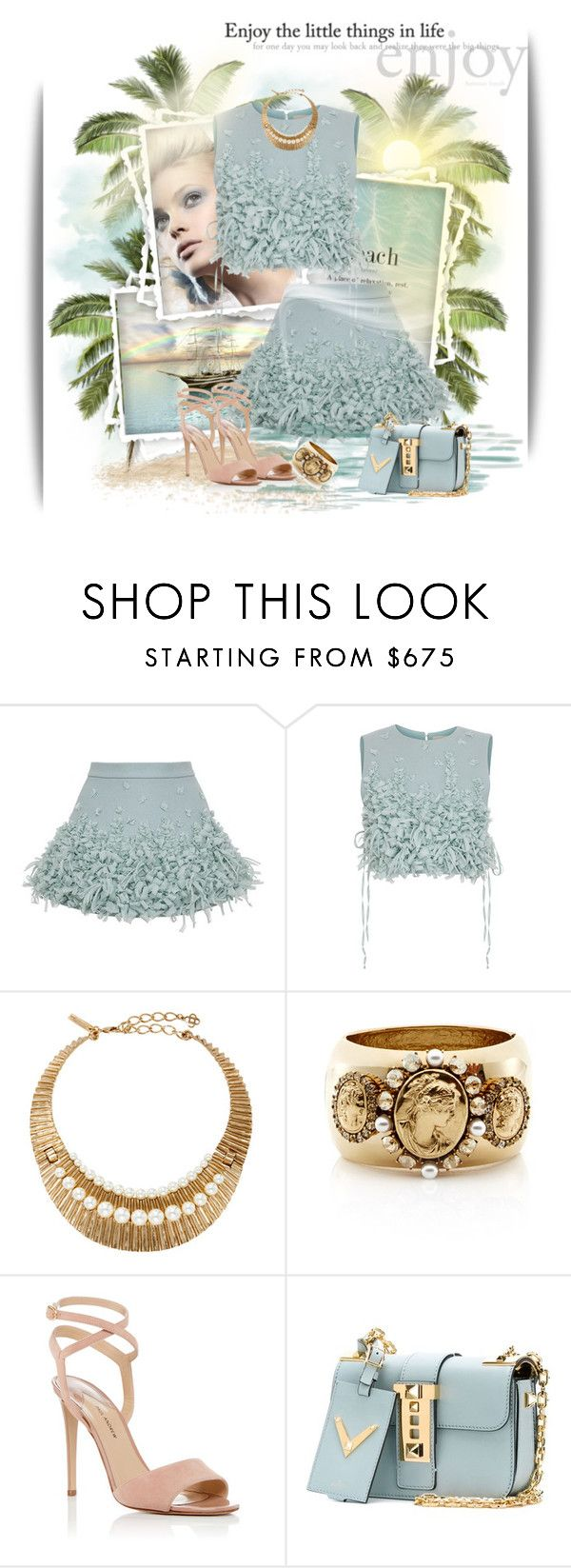 """""""Enjoy the little things in life"""" by qiou ❤ liked on Polyvore featuring VesseL, Ruban, Paul Andrew and Valentino"""
