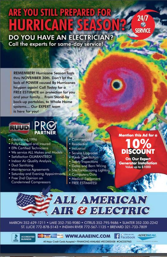 Are you prepared for hurricane season? Heating company