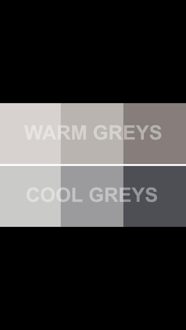 Warm Grays & Cool Grays