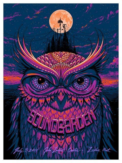 Nine Inch Nails Sound Garden Art Canvas Print Soundgarden Concert Gig Poster