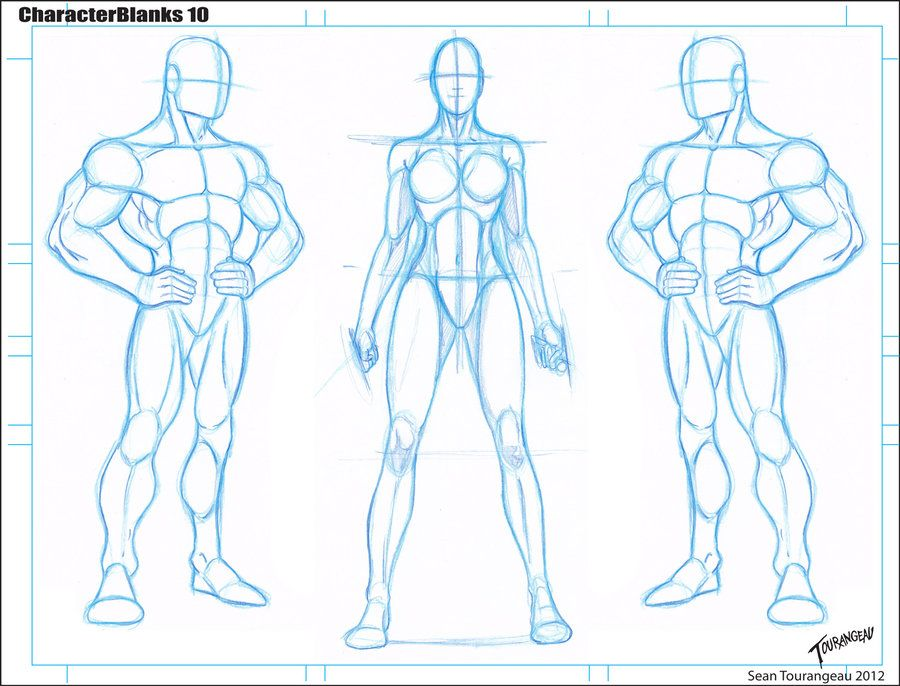 Blank Templates 10 by stourangeaudeviantart on @deviantART - references sheet template