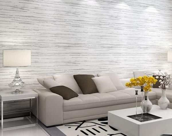 Papel De Parede Para Sala Que Vao Inovar A Decoracao Com Modernidade Decoracao De C Striped Wallpaper Living Room Wallpaper Living Room Romantic Living Room