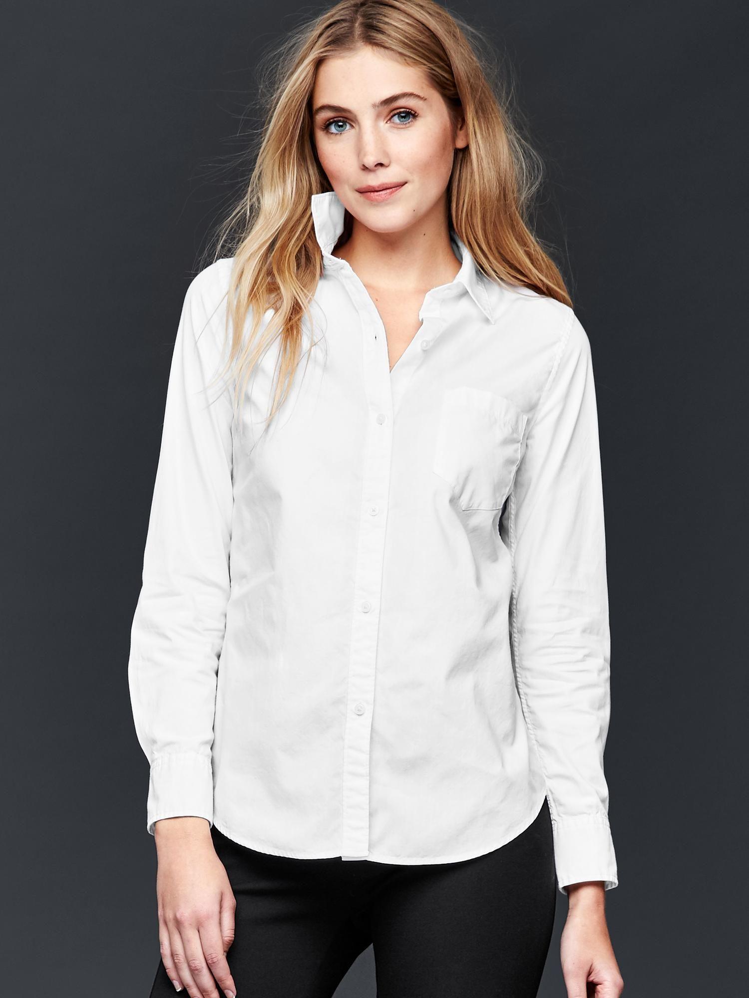 4165deb4fda Fitted boyfriend oxford shirt
