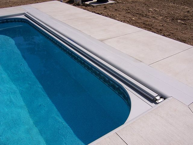 Automatic Pool Covers 365 Under Track System With 2 Ft Radius Corners Automatic Pool Covers