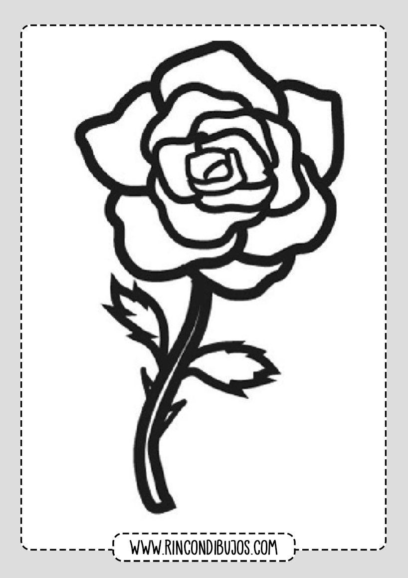 Dibujo De Una Rosa Rincon Dibujos Dibujos De Rosas Caritas Para Colorear Dibujo De Rosa