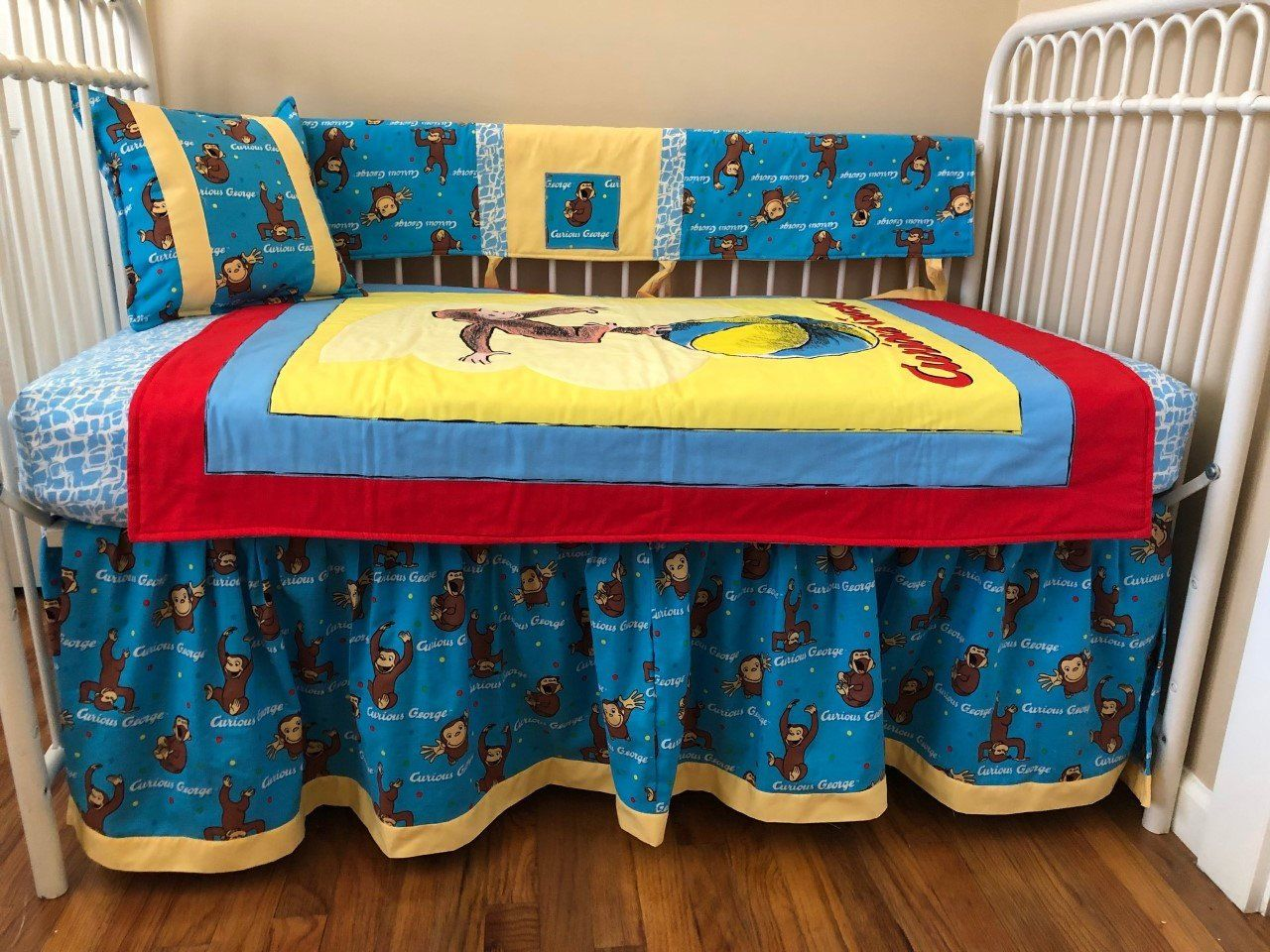 Curious George Primary Colors Crib Bedding Custom Crib Bedding