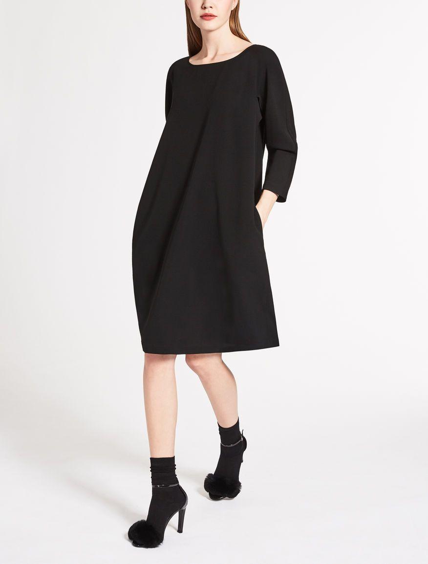 26d23734b27 Max Mara MIRETTA black  Wool dress.