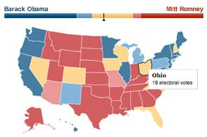 Political Map 2012 Election.Is The 2012 Election More About Base Than Undecideds Pinterest
