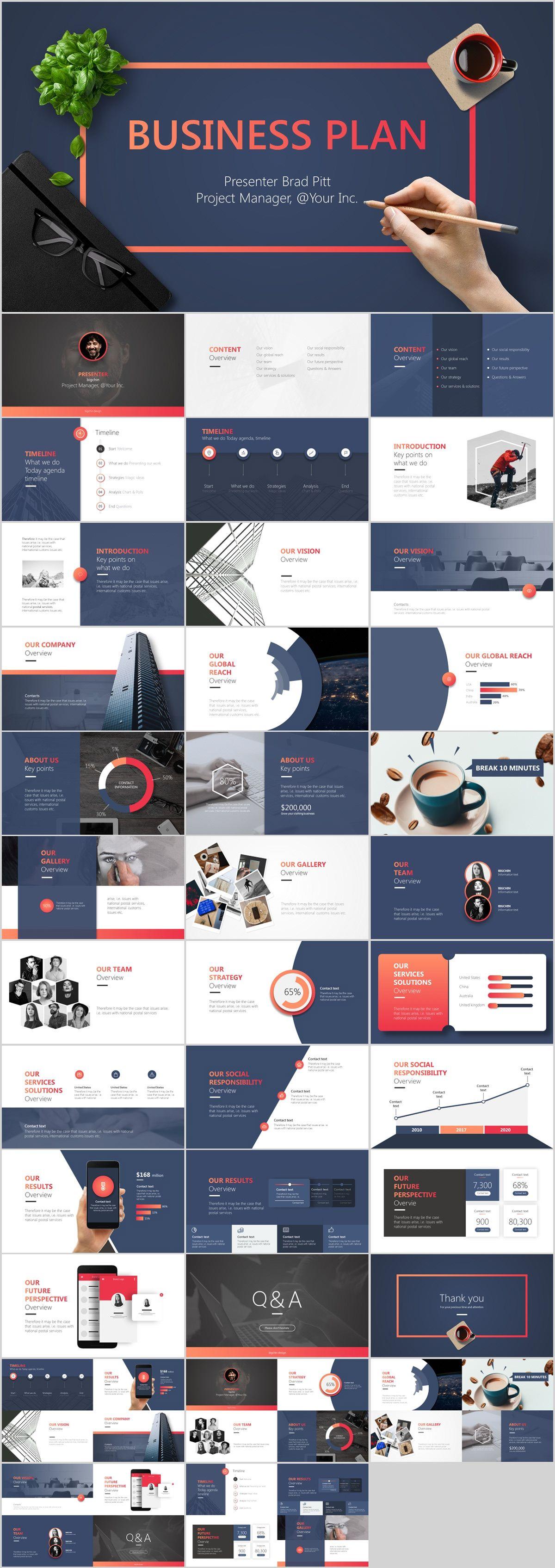 30+ Best tech business plan PowerPoint template downloa