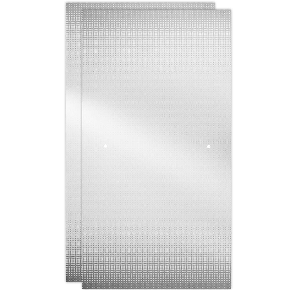 Delta 48 In Sliding Shower Door Glass Panels In Droplet 1 Pair