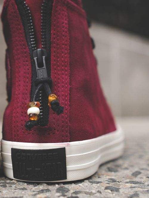 CONVERSE CHUCK TAYLOR ALL STAR HI ZIP BURNISHED SUEDE by KITH
