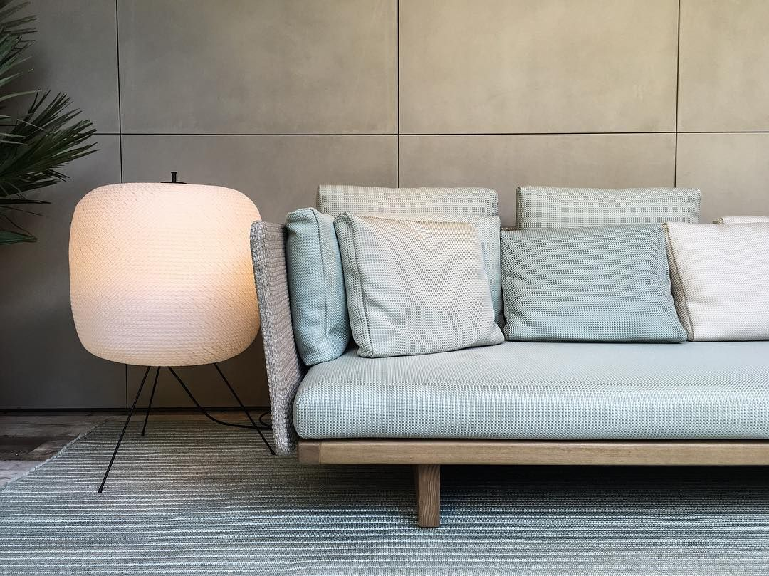 Paola Lenti   Sabi sofa by Francesco Rota & Shoji floor lamp by ...