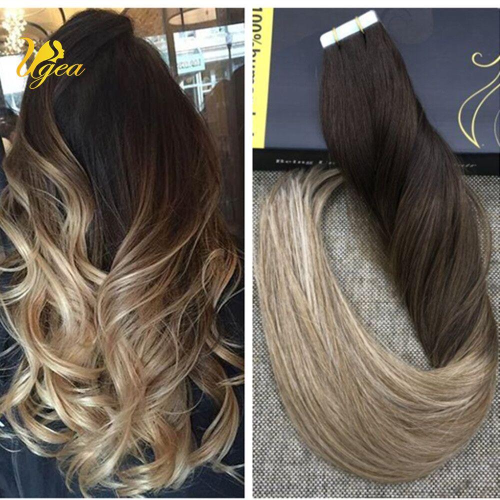 8a Virgin Balayage Human Hair Extensions Weft Straight Hair Bundle