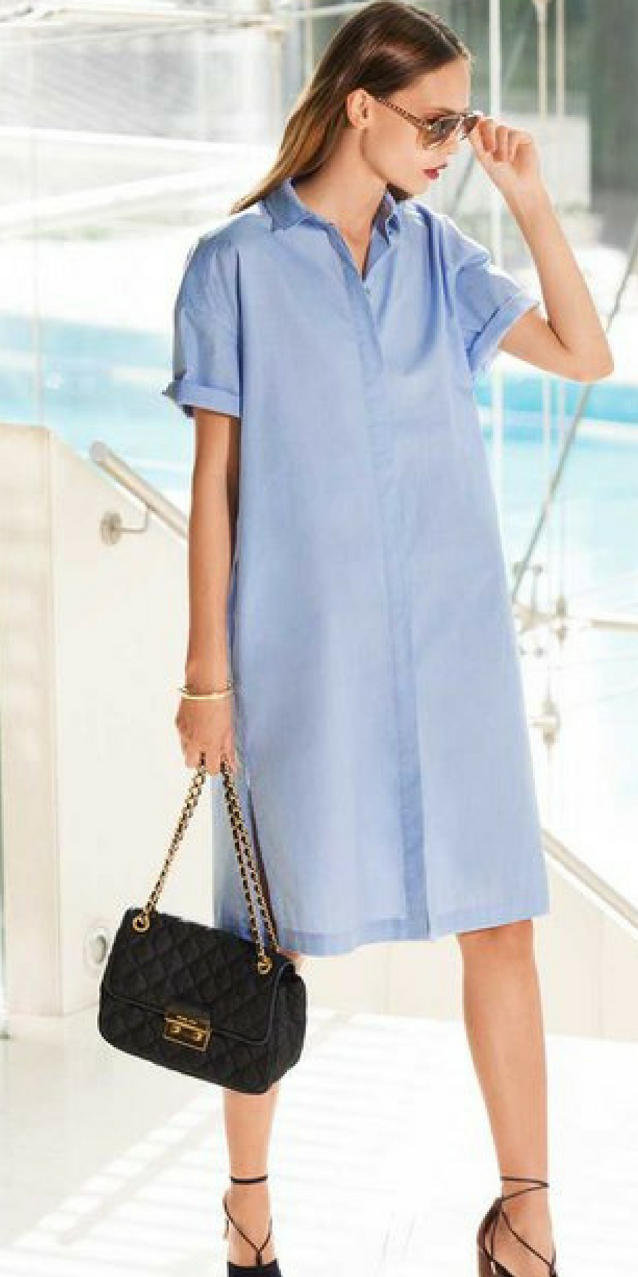 Womenus shirt dress sewing pattern available for download this